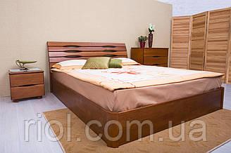 Двоспальне ліжко з бука Маріта V з підйомним механізмом ТМ Олімп