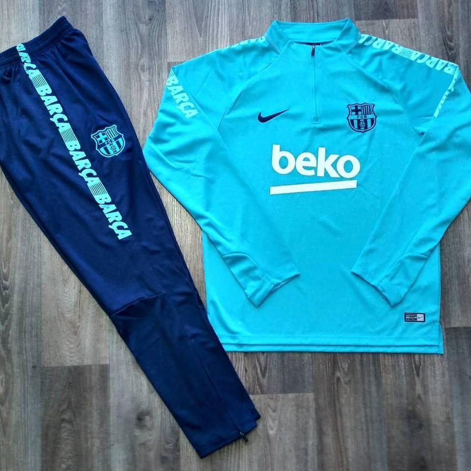 Костюм тренировочный Барселона сезон  2018-2019 (голубо-синий)