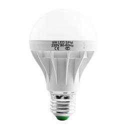 Лампа светодиодная G70 Е27 9W круглая- 2