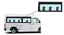 Боковое панорамное стекло средняя база Mercedes Sprinter 1995-2006 заднее правое