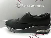 Женские кроссовки замш