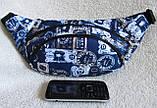 Сумка на пояс бананка поясная стильная модная мужская женская барсетка через плечо Валюта синяя Польша, фото 2