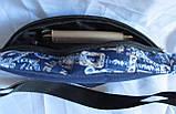 Сумка на пояс бананка поясная стильная модная мужская женская барсетка через плечо Валюта синяя Польша, фото 7
