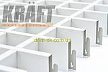 Потолок Грильято стандарт ячейка 86х86 мм, цвет коричневый RAL 8017, фото 3