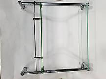 Полка на 4-е отверстия 350Х350 мм ( Два стекла ) ПС612, фото 3