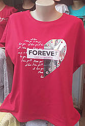 Женская футболка большого размера