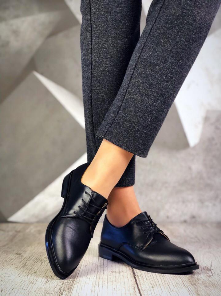 Женские черные туфли Bridgies на низком ходу