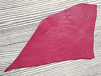 Шкіра натуральна для рукоділля Рожева темна 22*12см, №008, фото 1