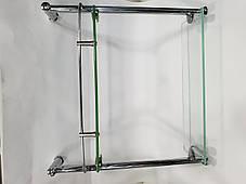 Полка на 4-е отверстия 350Х350 мм ( Одно стекло и держатель полотенца ) ПС611, фото 3