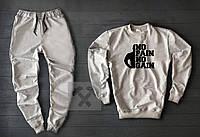 Чоловічий спортивний костюм No Pain No Gain сірого кольору, фото 1
