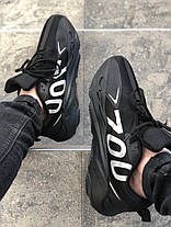 Мужские кроссовки Adidas Yeezy Boost 700 VX Black/White, фото 2