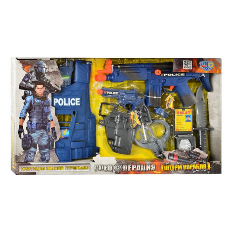 Детский игровой Набор полиции (спецназ) с бронежилетом, 33520