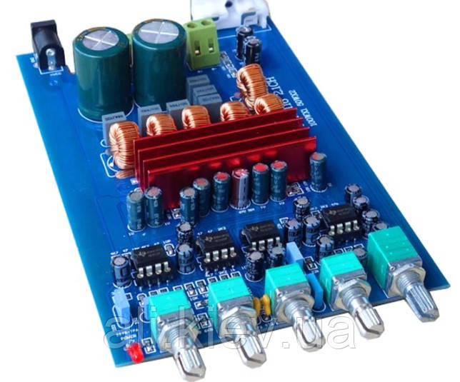 Підсилювач з параметричним темброблоком 2*50 1*100Вт TDA3116D2 D-класс сабвуфер усилитель плата аудио