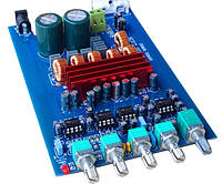 Підсилювач з параметричним темброблоком 2*50 1*100Вт TDA3116D2 D-класс сабвуфер усилитель плата аудио , фото 1