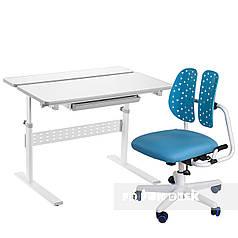 Комплект парта Colore Grey + детское ортопедическое кресло SST2 Blue FunDesk