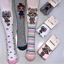 Комплект из трех пар колгот для девочки с куколками LOL весенняя осенняя демисезонная