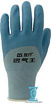Перчатки рабочие стрейчевая покрытая вспененным силиконом, фото 3