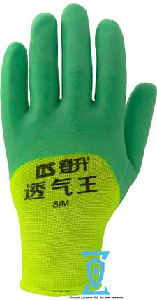 Перчатки рабочие стрейчевая покрытая вспененным силиконом, фото 2