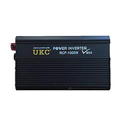 Перетворювач інвертор 12в-220в 1000W (PROFI) UKC