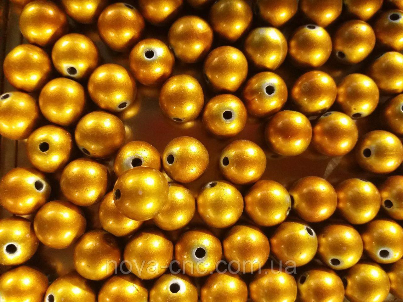 """Намистини """"куля"""" помаранчевий 500 грам"""
