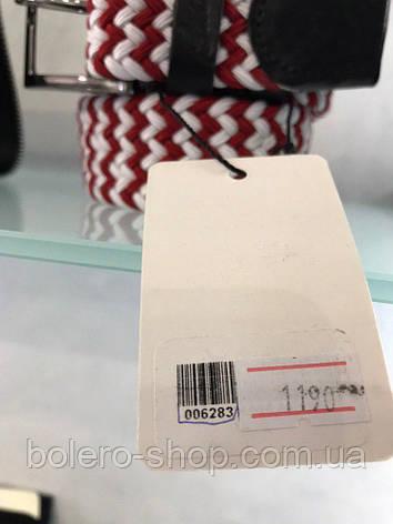 Мужской пояс ремень красно-белое плетение, фото 2
