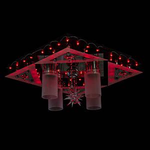 """Люстра """"космос"""" з LED підсвічуванням на пульті управління (червоний, синій, фіолетовий)"""