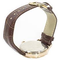 ➨Наручные часы SWIDU SWI-018 Brown + Gold мужские инкрустация камнями унисекс, фото 3