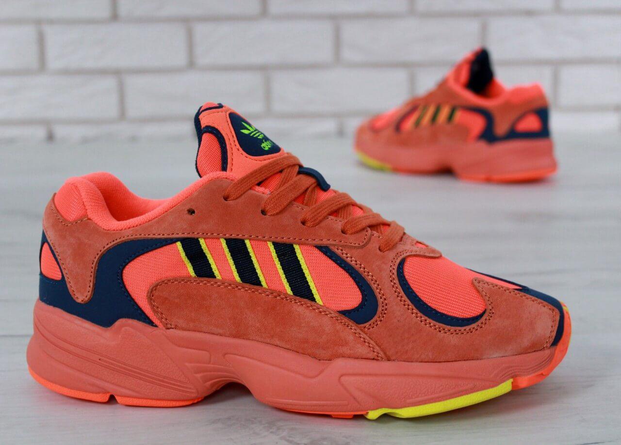Женские кроссовки Adidas Yeezy Yung-1 Red Suede