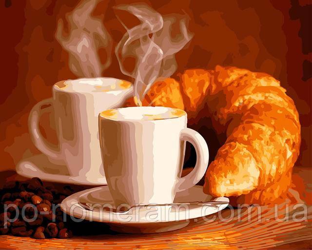 картины по номерам кофе и круассан купить в Украине