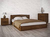 Двуспальная кровать из бука София Люкс с подъемным механизмом ТМ Олимп