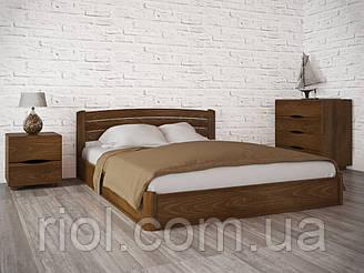 Двоспальне ліжко з бука Софія Люкс з підйомним механізмом ТМ Олімп