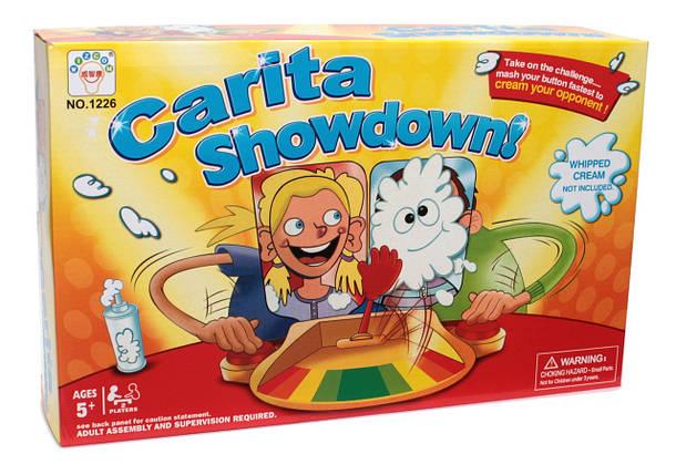 Игровой набор настольная игра Пирог в лицо для двоих игроков Carita Showdown! (Wizcom 1226), фото 2