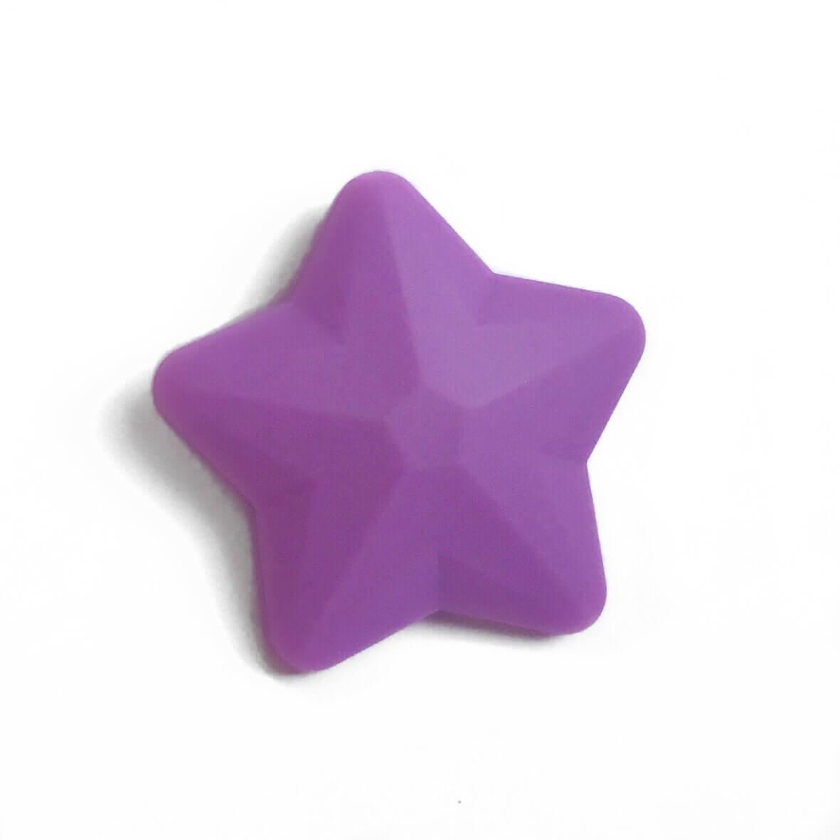 Звезда большая (сирень) 45мм, силиконовые бусины