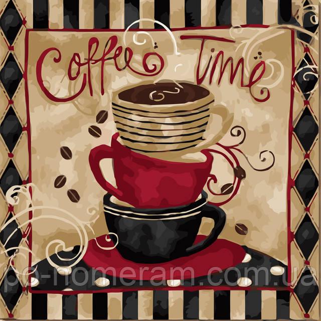 картины по номерам кофе 3 чашки