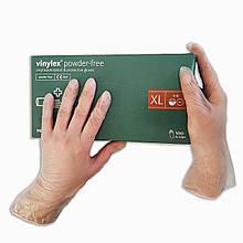 Перчатки виниловые одноразовые Vinylex нестерильные  100 шт  размер XL прозрачные