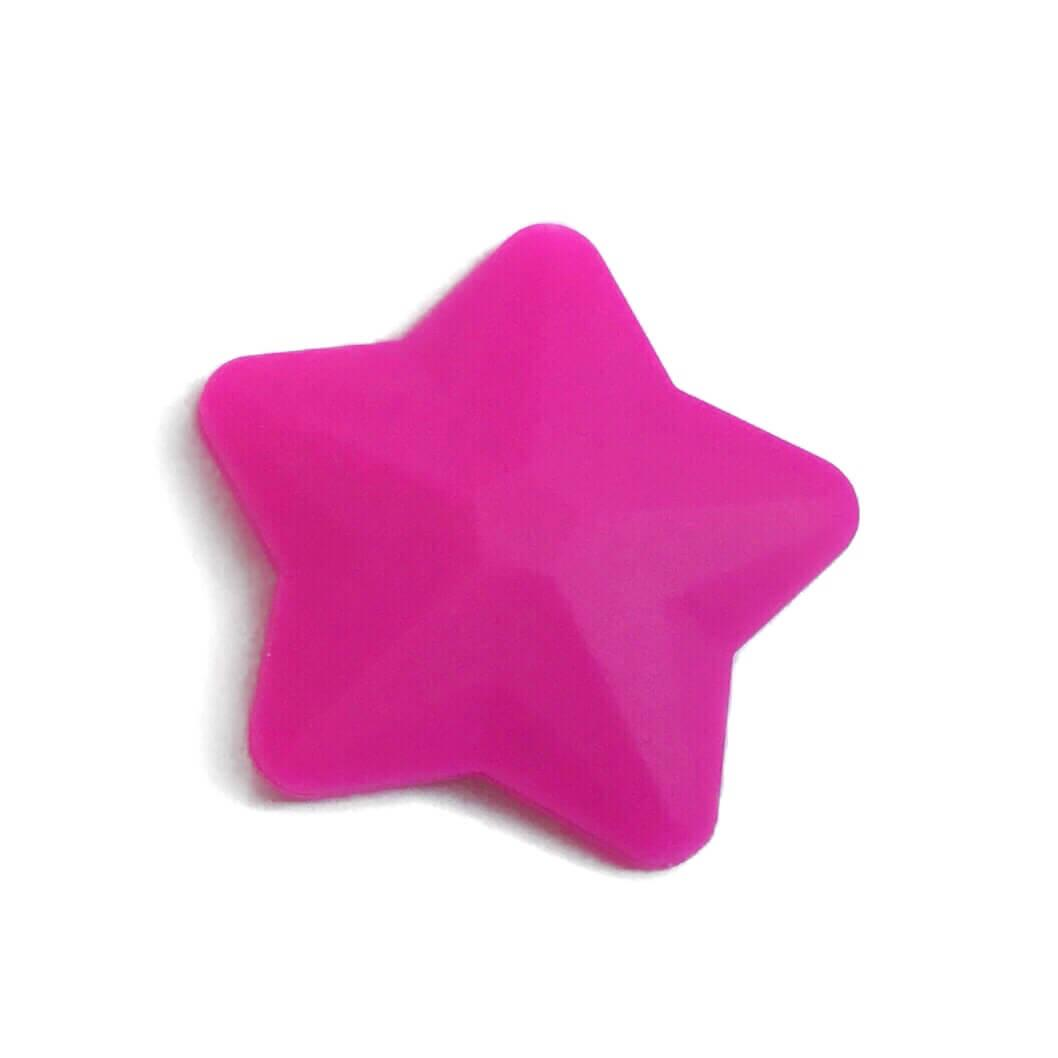 Звезда большая (малина) 45мм, силиконовые бусины