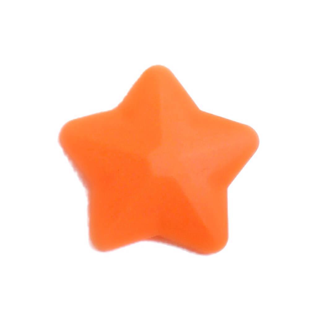 Звезда большая (оранжевый) 45мм, силиконовые бусины