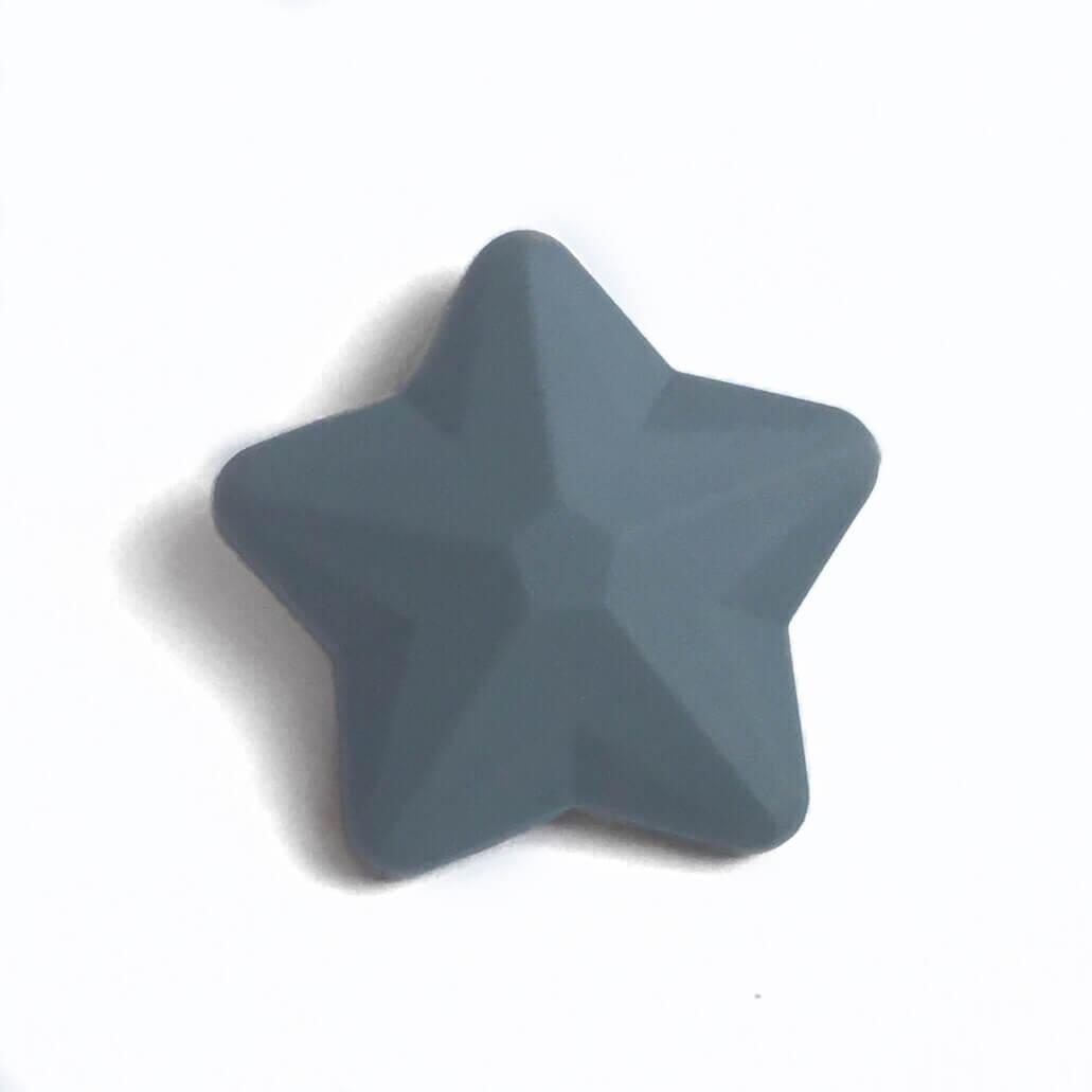 Звезда большая (темно серая) 45мм, силиконовые бусины