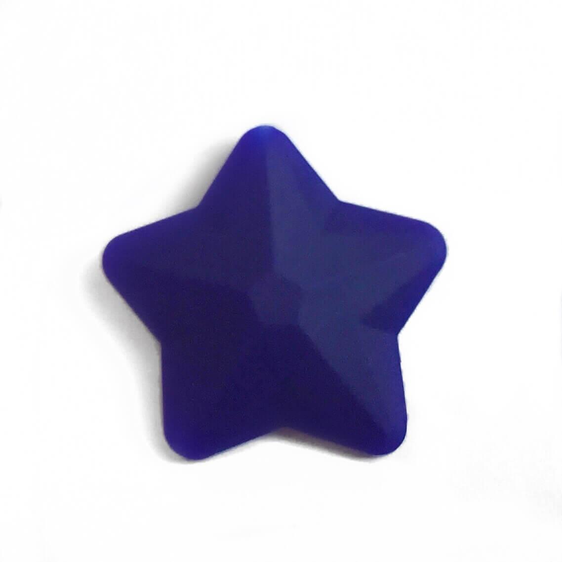 Звезда большая (темно синяя) 45мм, силиконовые бусины