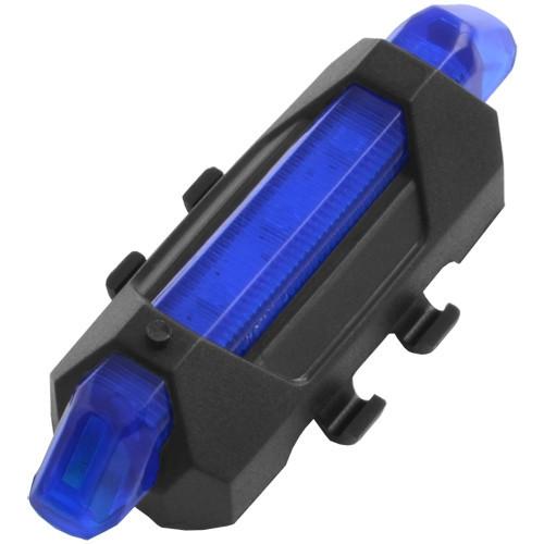 Фонарь велосипедный  DC-918, ЗУ USB, встроенный аккумулятор Li-ion, комплект, синий