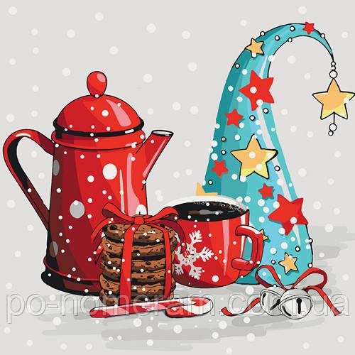 картины по номерам кофе зимний вечер заказа в Киеве