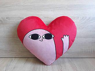 Мягкая игрушка - подушка Сердце Фасолька Кетнипз стикер Инстаграм