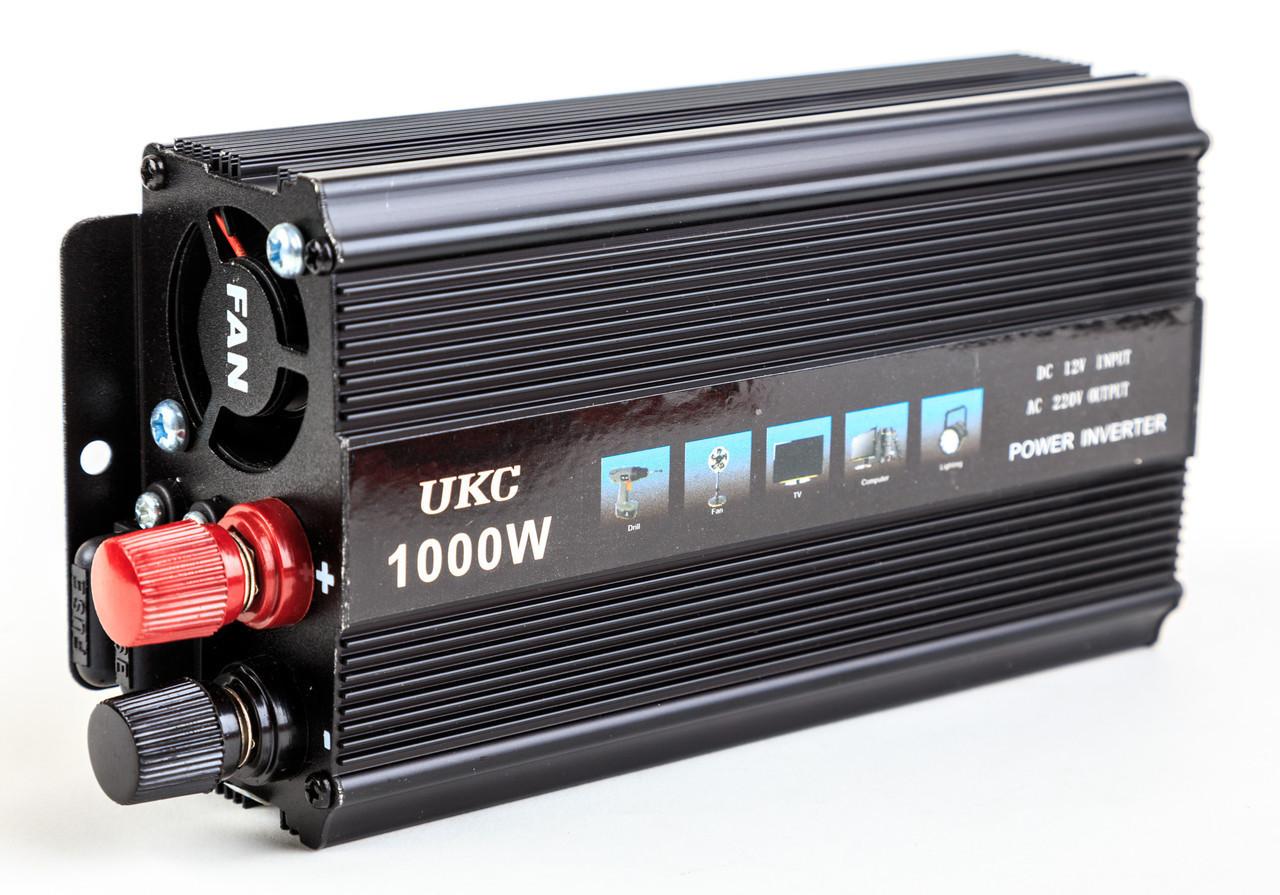 Преобразователь напряжения, инвертор 12-220V UKC AC/DC 1000W SSK