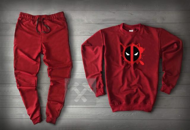 Спортивный костюм Дед Пулл красного цвета
