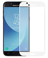 Защитное стекло для Samsung J7 2017 J730 Full Cover Rinco (White), фото 1