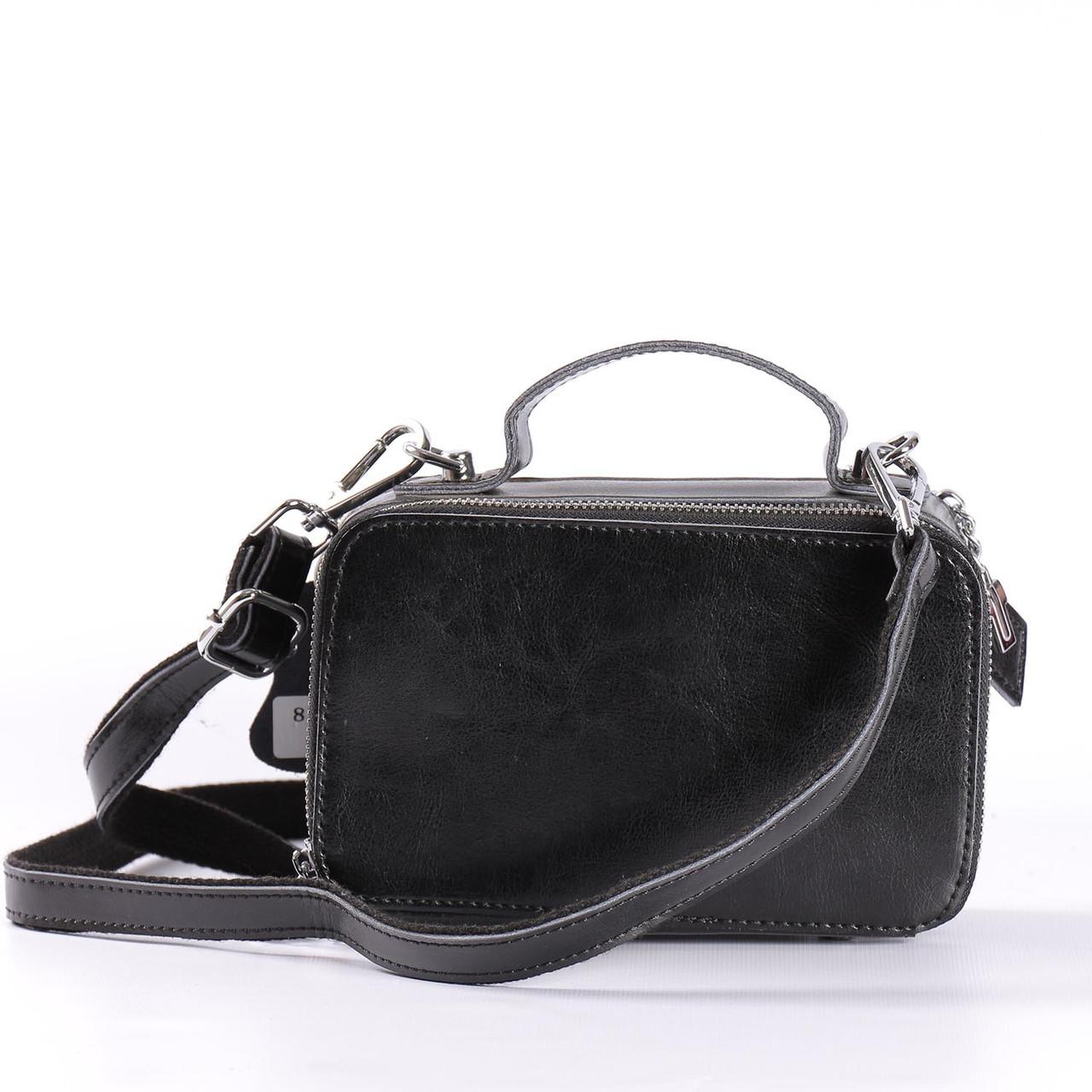 07b3b93fe092 Женская кожаная сумка мини черная