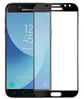 Защитное стекло для Samsung J7 2017 J730 Full Cover Rinco (Black), фото 1