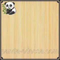 Бамбукові шпалери світлі 0,9 м, ширина планки 5 мм