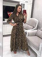 e373c98417e Платье рубашка женское стильное длинное с поясом анималистический принт  питон и леопард Smvv3085