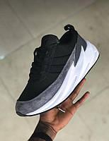 Кроссовки Adidas SHARKS цвет серый-черный-белый